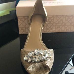 Gold Badgley Mishka shoes
